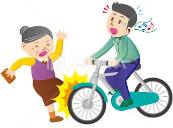自転車イヤホン