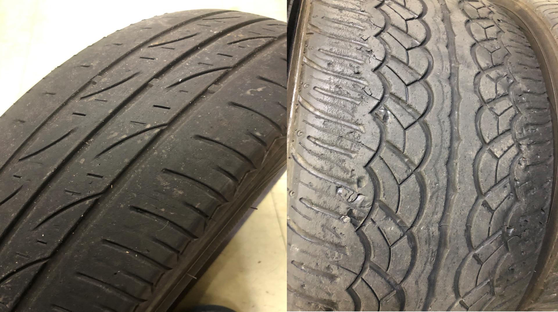 溝が少ないタイヤ